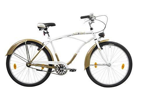 Leader Easy Rider Bici Crucero, Men s, Blanco, 26