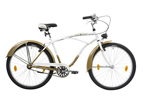 Leader Easy Rider, Bici Cruiser Men's, Bianco, 26''