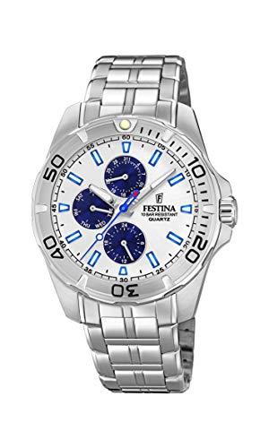 Festina Herren Multi Zifferblatt Quarz Uhr mit Edelstahl Armband F20445/1