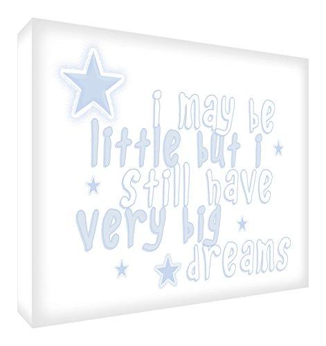Feel Good Art May All Your Dreams Come True Blocs Acryliques Décor Symbolique Soft Blue 14,8 x 10,5 x 2 cm