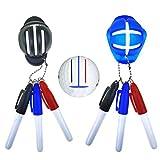 Volking Marcadores de Golf Marcadores de línea de Pelota, 2 Piezas de marcadores de Golf Marcadores de línea de Bola y 6 Piezas de rotulador de Pelota de Golf, marcadores Plantilla de Entrenamiento
