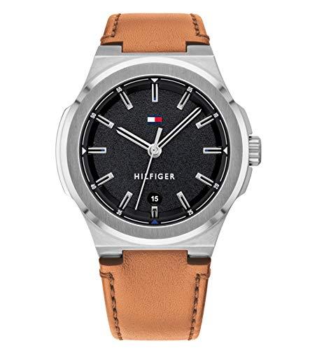 Tommy Hilfiger Reloj Analógico para Hombre de Cuarzo con Correa en Cuero 1791650