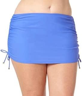 Solid Blue Ruched Skirtini Bikini Bottom 3X