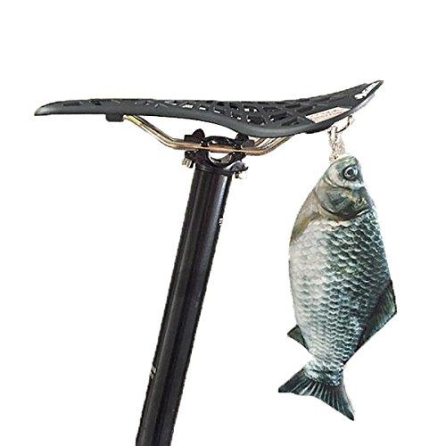 YONGYAO Bicicleta Bicicleta Creativa De Pescado Salado Bolsa De Cola Herramientas Bolsa...