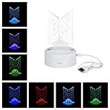 Kpop BTS Bangtan Boys 7 Colors LED Night Light USB Acrylic Home Room Decoration for Army Gifts