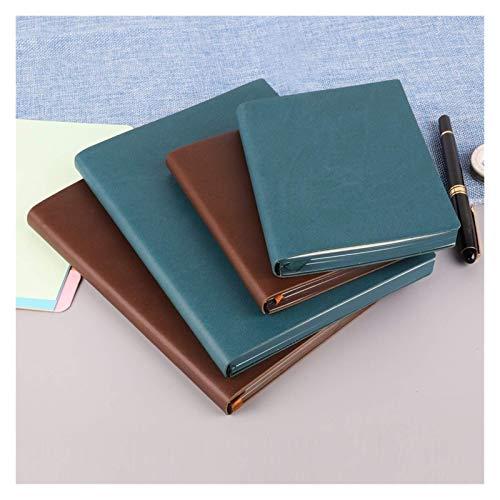 Hermosa Cuaderno 1 pieza 1 pieza en blanco Cuaderno Diario A5 A6 Tamaño Tamaño Dibujo Pintura Viajes Brown Blue Sketchbook Oficina Suministros Escolares Cuaderno (Color: Marrón, Tamaño: A6 146x110mm)