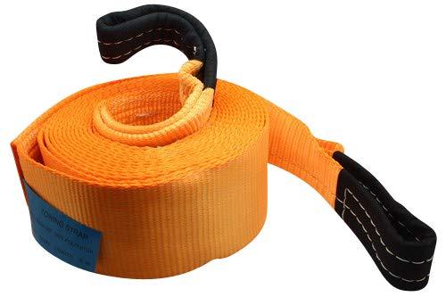 DE VOITURE Heavy Duty restauration de remorquage Sangles 17600ib 8/tonnes 5/m avec 2/crochets 2/Anti-proof Gants Aijiwu Corde de remorquage