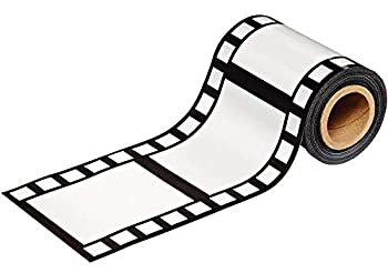 Beistle Hollywood Filmstrip Party Tape 1-Pack Black/White