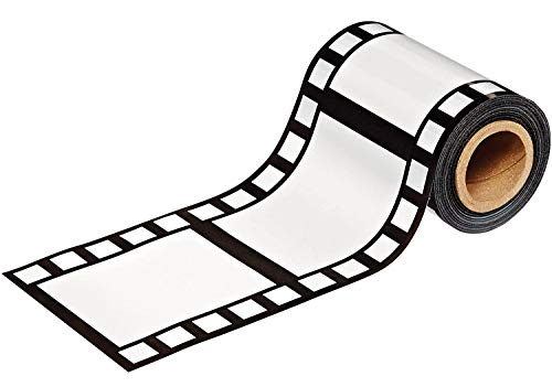 Beistle Hollywood Filmstrip Party Tape, 1-Pack, Black/White