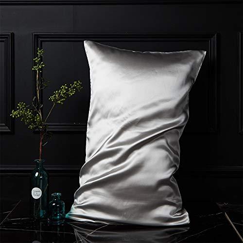 DCGSADFW 100% zijden kussensloop, single side, 100% zijde, zijde, bevat aminozuur om de huid te voeden en verlicht fijne lijntjes. Comfortabele slaap.