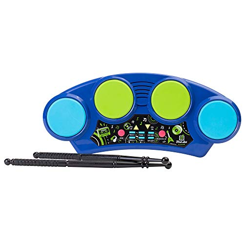First Act Toy Drum Pad, 14.75 Inch - 4 Drums, 2 Drumsticks, Dance Beats & Hip Hop Music - Drum Pad for Kids and Beginners - Drop The Beat