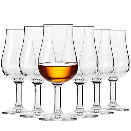 Krosno Whisky Verkostungs-gläser | Set von 6 | 100 ML | Epicure Kollektion | Perfekt für zu Hause, Restaurants und Partys | Spülmaschinenfest