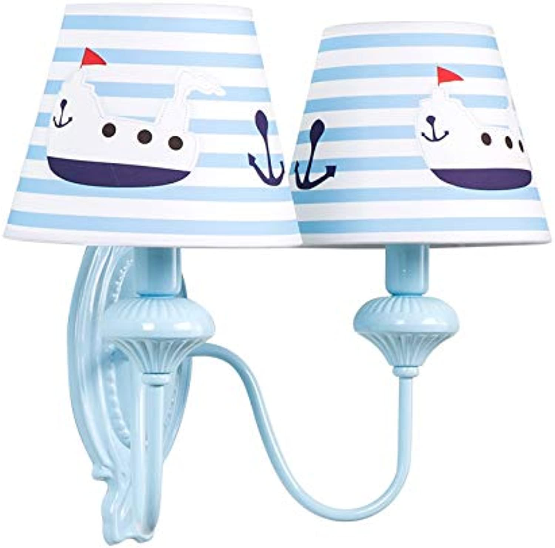 AGECC 110-230V Wandleuchte für den Innenbereich Kinderzimmer, Wandleuchte, Stiefel im mediterranen Stil, Kinderzimmer, Nachttischlampe für die Persnlichkeit, Augenlesung, LED-Doppelkopf-Wandleuchte.