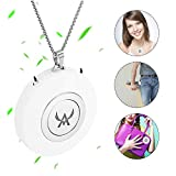 Mini Personal Air Purifier Wearable Air Purifier Filter Necklace USB Air Cleaner Portable Negative Ion Generator Personal Air Freshener for Adult,Kids(White)
