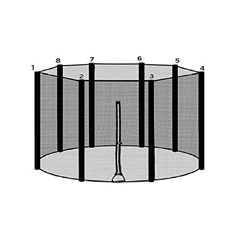 ULTRAPOWER SPORTS Trampolinzubehör Ersatznetz Sicherheitsnetz für Trampolin | Ø 305 | 8 Stangen | UV-beständig | Extrem Reißfest Trampolinnetz Schwarz