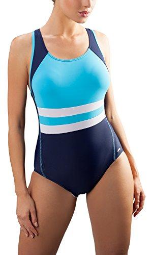 aQuarilla Damen Schwimmanzug AQ70 (Marineblau/Blau, 36)