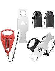 Draagbaar deurslot, deurkettingen veiligheid, 2 stuks reisslot, deurslot veiligheid, zwart en rood