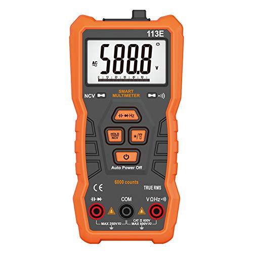 IDES NCV Digital Multimeter 6000 zählt Auto Ranging AC/DC Spannung Meter-licht Zurück licht Großen Bildschirm,113E