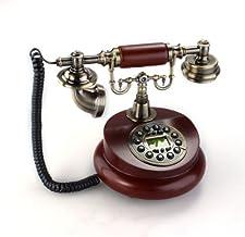 Gleader Telefono antiguo Disenador Nostalgia telefono telescopio telefono de la vendimia hecha de resina