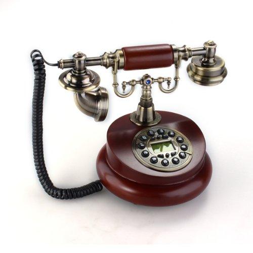 Teléfono Fijo Antiguo Vintage Retro Resina Casa Mesa