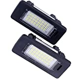 LED Car License Plate Light Assembly 12V 24 Led lamp bulb for BMW 1 3 5 X Series Error Free Direct Replacement...