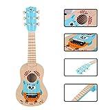 Foxom Guitarra para Niños, 21 Pulgadas 6 Cuerdas Madera Guitarra Juguetes - Instrumento Musical para...