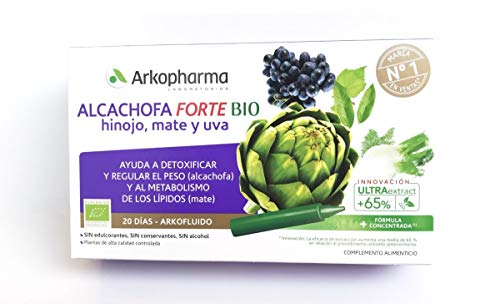 ARKOCAPIL - Ampollas Alcachofa Con Hinojo, Mate Y Uva Arkopharma