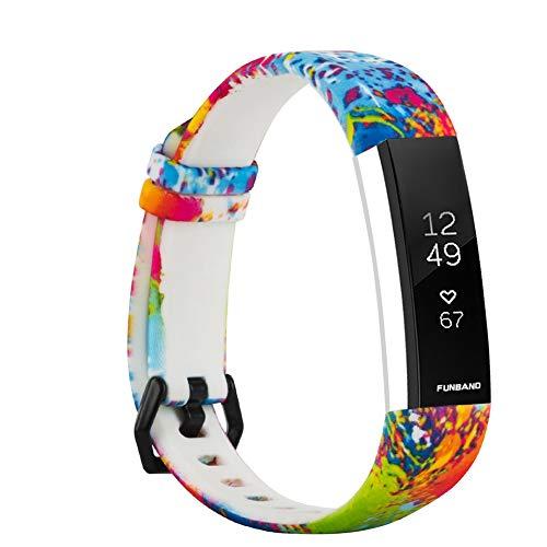 FunBand Kompatibel mit Fitbit Alta/Alta HR Armband, Einzigartig Elegant Einstellbar weiches Silikon Sport Wrist Strap Band Armbanduhr Uhrenarmband Schlaufe Armbänder für Fitbit Alta/Fitbit Alta HR