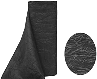 BalsaCircle 12-Inch x 10 Yards Black Party Crinkled Taffeta Fabric by The Bolt - Sewing Craft Wedding Favors Supplies