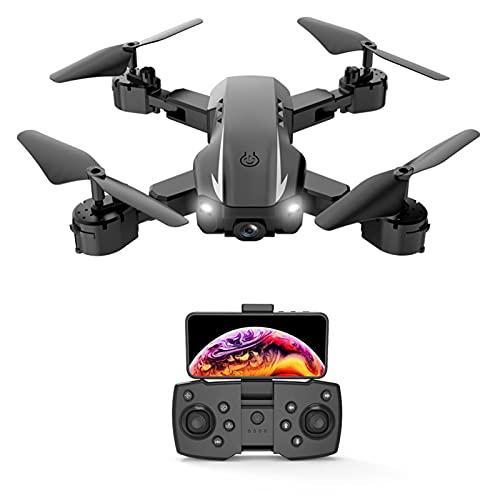 JANEFLY Dron con cámara 4K HD para Adultos y niños, cuadricóptero fácil para Principiantes con retención de altitud, Modo sin Cabeza, Selfie de Gestos, Funciones de waypoints, 3 baterías Negro