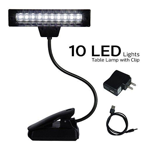 ETOPLIGHTING 10 LED Super Bright Lamp - Orchestra Music Stand Light Clip On Book Reading, Desk...