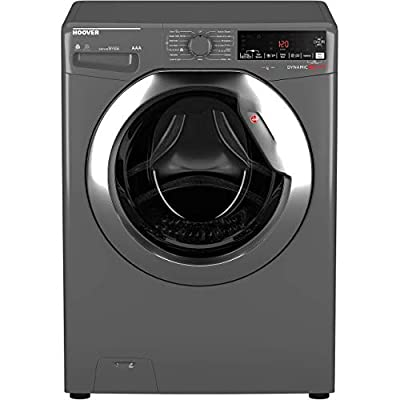 Hoover WDWOAD4106AHCG Freestanding Dynamic Next Washer Dryer, WiFi Connected, 10kg Wash/6kg Dry Load, 1400rpm, Graphite