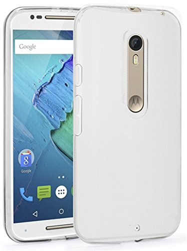 Moto X Pure Edition Case (2015 MOTO X Style), Monoy Nature 0.6mm Slim Crystal White TPU Soft Case Shell for Moto X Pure Edition / Motorola Moto X Style (XT1575) (White TPU Case)