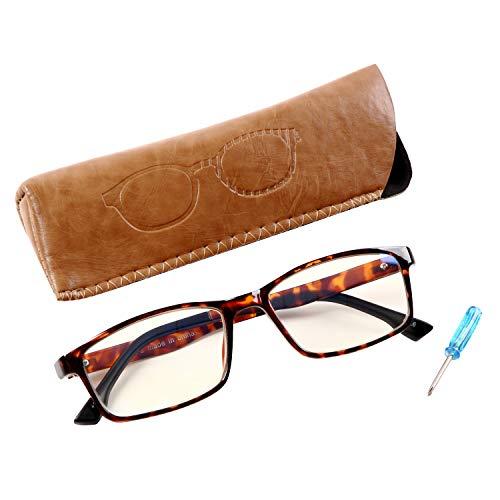 PrePiar 老眼鏡 おしゃれ コンパクト 携帯用 軽量 超軽 コンパクトグラス メンズ レディース ブラウンデミ +2.5