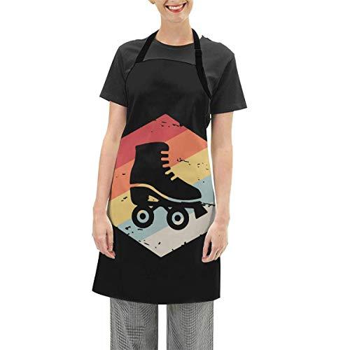N / A wasserdichte Schürze Unisex Fashion Retro 70er Jahre Rollschuh Verstellbare Schürze für die Küche Kochen Home Baking