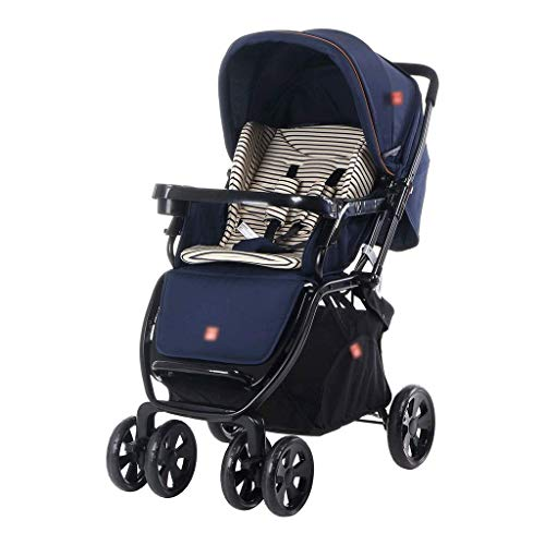 New Stroller Two in one Newborn Infant Stroller and Toddler Folding Anti-Shock Pram Upright & Reclin...