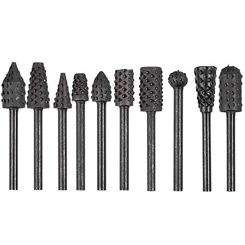 Bestgle Madera escofina Juego herramientas eléctricas de madera Grabado Tallado Brocas para limas Brocas rotativas para Herramientas Rotatorias