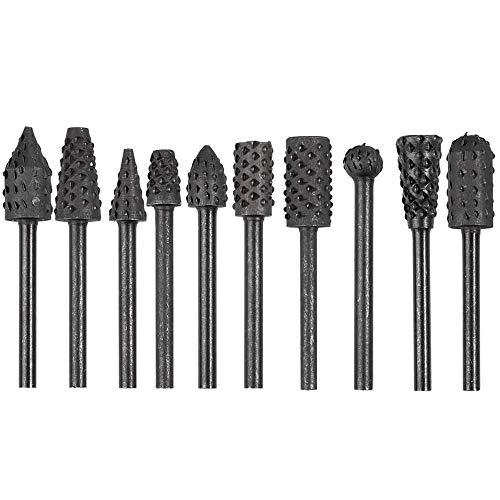 Bestgle Madera escofina Juego herramientas eléctricas de madera Grabado Tallado Brocas para...