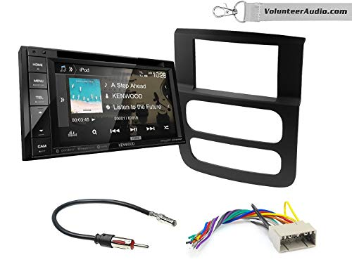 Kenwood DDX276BT Double Din Radio Install Kit With 6.2 Touchscreen, SiriusXM Fits 2002-2005 Ram