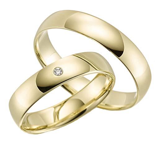 2 x 375 Trauringe Gelbgold ECHT GOLD Eheringe schlichte Trauringe LM.05.GG Trauringe Paarpreis vom Juwelier Echtes Gold Verlobunsringe Wedding Rings Trouwringen