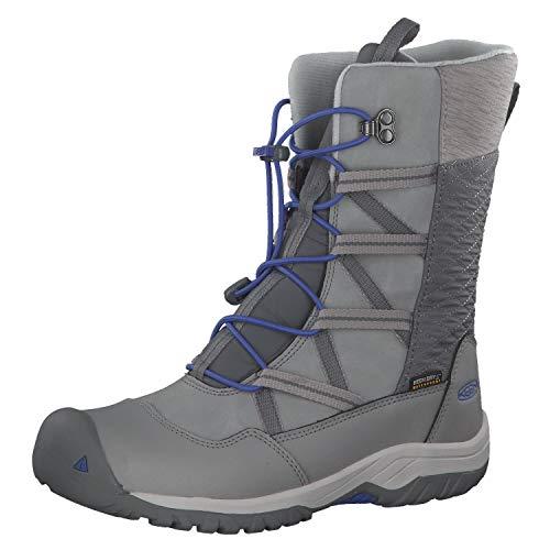 KEEN Hoodoo Botte IMPERMÉABLE, Chaussures de Randonnée Hautes Mixte Enfant, Noir (Paloma/Amparo Blue 002), 37 EU