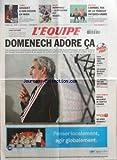 EQUIPE (L') [No 19493] du 15/11/2007 - TENNIS - GASQUET A SON DESTIN EN MAIN - RUGBY - HERNANDEZ - LA SITUATION EST REGLEE - BATEAUX - CAMMAS ROI DE LA TRANSAT JACQUES-VABRE - A NOS LECTEURS - DOMENECH ADORE CA - SPECIAL FOOT - ITALIE - CANNAVARO PORTE LE DEUIL - CES ESPOIRS QUI REVENT EN BLEU - L1 - ROUSSEY FAIT FACE AUX CRITIQUES - TOUS SPORTS - DOPAGE - REGLEMENT DE COMPTES A MADRID - QUESTION DE SPORT - QUI APRES MORMECK