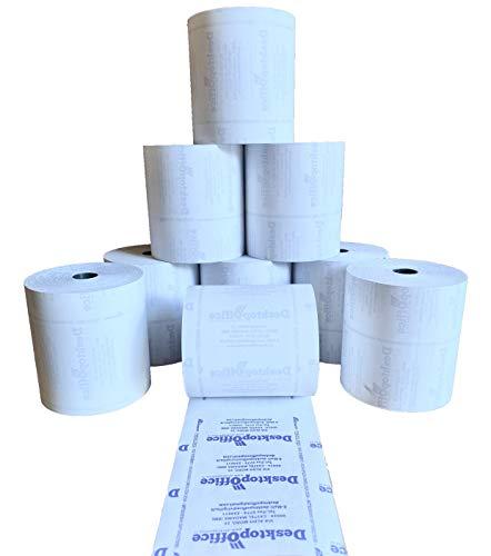 50 Rotoli in carta termica OMOLOGATI per registratori di cassa MM 80 X 80 MT, foro 12. Valenza fiscale