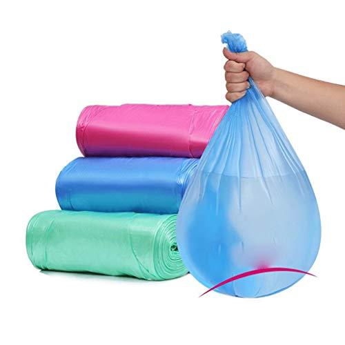 LJDC Bolsas de Basura Desechables al por Mayor de Medio Negro y Grandes de Basura Plana Boca del hogar Bolsas de plástico