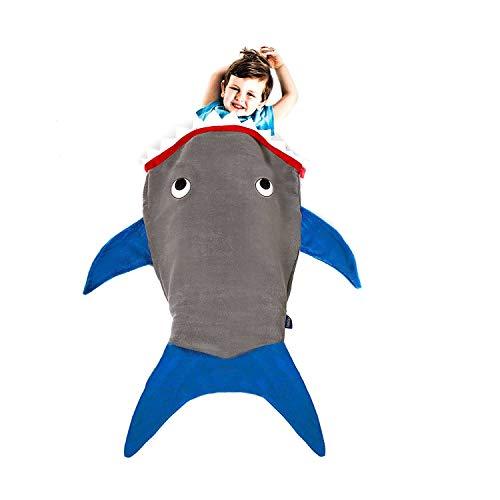 Blankie Tails | Shark Blanket, Shark Tail Double Sided Super Soft and Cozy Minky Fleece Blanket, Machine Washable Wearable Blanket
