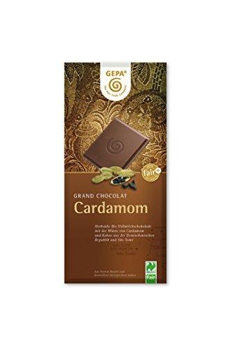GEPA Bio Kardamom, 38% Cacao, 5er Pack (5 x 100 g Packung)