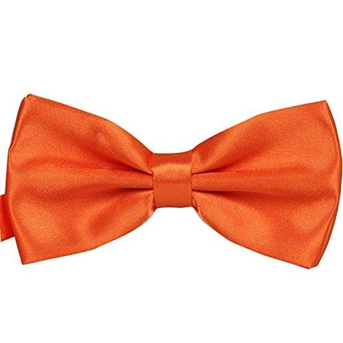 S.R HOME Noeud Papillon orange Unis pour mariage, travail ou tout autre événement