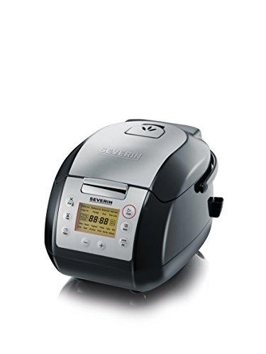 Severin MC 2448 Multicooker (900 Watt, 5 L) Edelstahl gebürstet/schwarz