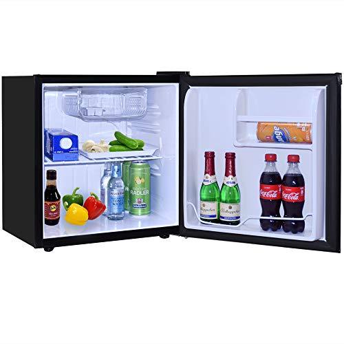 Syntrox Germany geräuscharmer 49 db Getränkekühlschrank Kühlschrank mit 46 Litern Volumen und Eisfach MBC-46-H-60W ICE