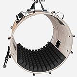1x Drum Damper Muffling Pad for Bass Drum Sound Control | Kick Drum Absorber | 20''x 24''x2.1'' | High Density Acoustic Foam | Better Than a Pillow